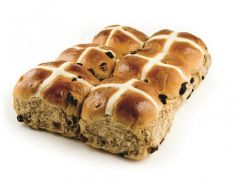 Choc Chip Hot Cross Buns (6 Pack)